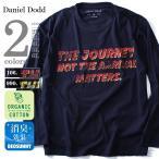 Yahoo!大きいサイズの店ビッグエムワンタダ割 大きいサイズ メンズ DANIEL DODD オーガニック プリントロングTシャツ(THE JOURNEV) 秋冬新作 azt-160435