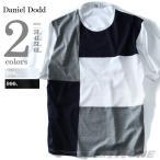 ショッピング大きいサイズ 大きいサイズ メンズ DANIEL DODD ブロック切替半袖Tシャツ 春夏新作 azt-1702131t