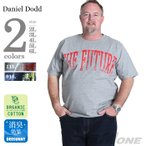 Yahoo!大きいサイズの店ビッグエムワンタダ割 大きいサイズ メンズ DANIEL DODD オーガニックプリント半袖Tシャツ THE FUTURE 春夏新作 azt-170238