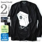 Yahoo!大きいサイズの店ビッグエムワン大きいサイズ メンズ DANIEL DODD プリントロングTシャツ オーガニックコットン使用 秋冬新作 azt-170414