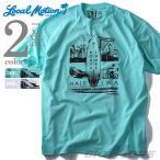 大きいサイズ メンズ LOCAL MOTION ローカルモーション プリント半袖Tシャツ NORTH SHORE USA直輸入 smt4201