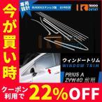 セール トヨタ プリウスα ZVW40 前期 ウィンドウトリム ウェザーストリップモール ガーニッシ ステンレス 鏡面 カスタムパーツ カーパーツ10PCS EX529