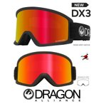 DRAGON ASIAN-FIT 2020 ドラゴン ゴーグル GOGGLE DX3 BLACK RED LUMALENS
