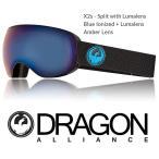 ショッピングASIAN DRAGON ASIAN-FIT ドラゴン ゴーグル GOGGLE 18 X2s SPLIT BLUE LUNALENS