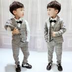 子供スーツ キッズ フォーマル 男の子スーツ 入学式入園スーツ こどもスーツ 卒業式 スーツ 入学式 発表会 結婚式 七五三 スーツ3点セット 90cm-130cm