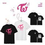 新品 MOMO  Tシャツ  Sana 半袖  Mina 打歌服  応援服 グッズ レディース メンズ 男女兼用 春夏Tシャツ 韓流グッズ 2色