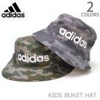 アディダス adidas 165-211-703 キッズ バケットハット KIDS ストリート 帽子 ロゴ CAMO ブラック ダークグリーン 子供 フェス ダンス メール便発送
