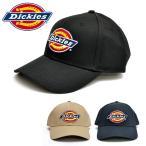 ディッキーズ【Dickies】アイコン キャップ アジャスタブル メンズ CAP 帽子 マジックテープ ロゴ シンプル 刺繍 ブラック ネイビー ベージュ