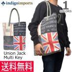 インディゴインポート【indigo imports】Reclaimed Bag ヴィンテージ キャンバス バック トート ユニセックス 40-57(Union Jack Multi Key) ユニオンジャック