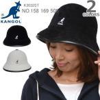 KANGOL/カンゴール SHAVORA CASUAL HAT ロゴ バケット ハット 帽子 メンズ レディース ユニセックス ストリート カジュアル 158 169 505 BLACK/CREAM