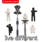 KIKKERLAND(キッカーランド) Live Dirrerent/人型フック/歯ブラシホルダー/髭剃りフック/TB701A
