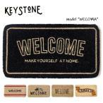 キーストーン【KEY STONE】ウェルカムコイヤーマット 玄関マット WELCOME MAT ナチュラル カフェ風 おしゃれ アンソロポロジー風