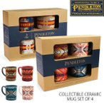 ペンドルトン【PENDLETON】セラミックマグセット チーフジョセフコレクション 4個セット マグカップ 食器 ペンデルトン キッチン ネイティブ柄 おしゃれ ギフト