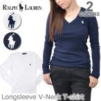 ショッピングポロ ポロ ラルフローレン /POLO RALPH LAUREN LongSleeve V-Neck T-Shirt コットン フラッグ ポニー ロングスリーブ Vネック 長袖 Tシャツ 211680253 WHITE/BLUE