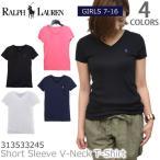 ラルフローレン 【RALPH LAUREN 】コットン Sleeve V-Neck T-Shirt ポニー ショートスリーブド Vネック Tシャツガールズ モデル 313533245 男女兼用