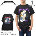 メタリカ/Metallica JUSTICE Tシャツ へヴィメタ ロックT バンドT BLACK ブラック ヒップホップ ロゴT 正規品 本物