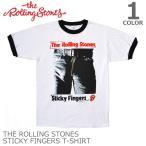 ザ・ローリングストーンズ/THE ROLLING STONES STICKY Fingers Tee ホワイト Tシャツ ロックT バンドT ヒップホップ ロゴT 正規品 本物