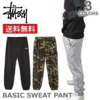 ステューシー/STUSSY  116288 BASIC SWEAT PANT スウェットパンツ ロゴ  メンズ ボトムス  裏毛 スチューシー  stussy  BLACK/GREY HEATHER/CAMO