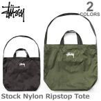 ステューシー/STUSSY 134172 STOCK NYLON RIPSTOP TOTE トートバッグ トート ストリート スチューシー ステューシー stussy BLACK/OLIVE メンズ 人気