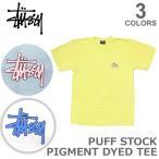 ステューシー【STUSSY】1904083 Puff Stock Pigment Dyed Tee メンズ Tシャツ TEE ロゴ ストリート スケーター 半袖Tシャツ