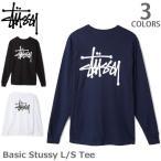 ステューシー/STUSSY 1994003 BASIC STUSSY LS TEE ロンT メンズ スチューシー 長袖Tシャツ stussy  BLACK メンズ トップス