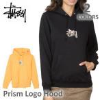 ステューシー/STUSSY 2921664 レディース スチューシー フードパーカー プルオーバー Prism Logo Hood 裏起毛 長袖 stussy BLACK/APRICOT トップス 人気