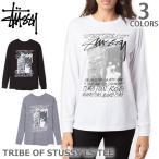 ステューシー/STUSSY 2992528 TRIBE OF STUSSY LS TEE ロンT レディース スチューシー 長袖Tシャツ stussy BLACK/WHITE/GREYHEATHER トップス 人気