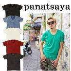 PANATSAYA(パナサヤ)Vintage washed Tshirts Tシャツ 無地 プレゼント バックパッカー ラウンドネック Ouky(オーキー)