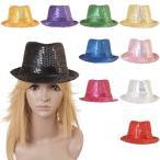 ショッピングコスプレ ハロウィン コスプレ 帽子 10色展開 スパンコール  ハロウィン 衣装 DZ001