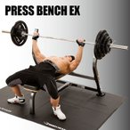 プレスベンチEX/ BODYMAKER ボディメーカー ジム フォーム 健康 収納 トレーニング 腹筋 グローブ ベンチプレス ダンベル ラック セッ