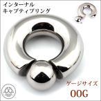 Body Piercing - 00G 付けやすい リングピアス インターナル キャプティブリングピアス