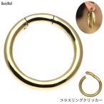 Body Piercing - 2G アンティーク ブラス 銅 ビッグ サークル リング クリッカーピアス ループピアス ボディピアス