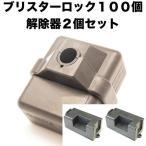 ブリスターロック100個&専用解除器2個セット 送料無料 /シグマ