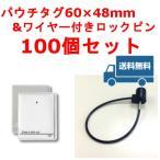 防犯タグLC(60mm×48mm) & ワイヤー付きロックピン(100個)セット /シグマ