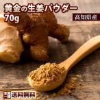 ポイント消化 高知県産  しょうがパウダー 粉末  蒸し生姜 黄金のしょうが粉末70g しょうが 生...