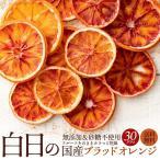 白日の国産ブラッドオレンジ 30g 無添加 砂糖不使用 国産 愛媛県産 ドライフルーツ ブラッドオレンジ オレンジ 柑橘 送料無料 お試し サイズ