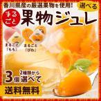 まるごとフルーツジュレ ゼリー 果物まるごと! ごろごろ 香川県産の まるごと桃 びわ 2種類から選べる 3個セット 果物ジュレ