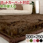 ラグマット ラグ カーペット おしゃれ 北欧 厚手 シャギーラグ 絨毯 ウレタンラグ 洗える 床暖房 ホットカーペット対応 おすすめ 200×250cm