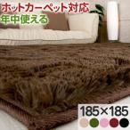 シャギーラグ - ラグマット ラグ カーペット おしゃれ 北欧 厚手 シャギーラグ 絨毯 ウレタンラグ 洗える 床暖房 ホットカーペット対応 おすすめ 185×185cm