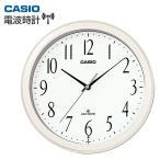 CASIO カシオ シンプル 電波時計 IQ-1060J-7JF 壁掛け専用 パールホワイト