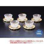 冷茶セット YO-5610 150ml 江戸硝子 5客 ガラス 茶托付き
