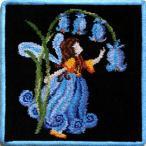 フェイラー ハンカチ (Feiler) フェアリーテール 妖精(ブラック/ブルー)25cmx25cm #fel008204 【メール便対応可】