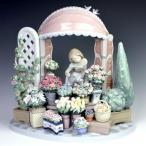 リヤドロ(Lladro リアドロ 陶器人形 置物) 花と少女 ロマンティックな朝 #ldr-8250