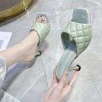ミュール サンダル レディース 履きやすい 春夏 ハイヒールサンダル ピンヒール ミュール サポシューズ 美脚 履きやすい 痛くない 靴 大人 オシャレ