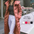 中綿コート ロング フード付き ダブルジップ 大きいサイズ 無地 aライン おしゃれ 冬 アウター ロングコート 厚