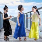 ワンピース ノースリーブ 女の子 子供服 ガールズ ジュニア キッズ 無地  可愛い 夏  子ども服 お出かけ  100 110 120 130 140 150 160cm