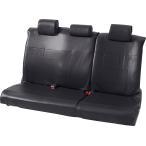 ミニバン セカンドシート(背・座 6:4分割シート)用レザー調フリーサイズシートカバー [グランドレザー] リヤ(枕カバー3枚付属)席用 ブラック/黒
