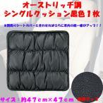 大垣産業[ボンフォーム]オーストリッチタイプ シングルクッション 綿入り 47×47cm ブラック