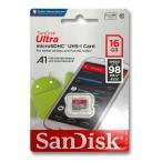 マイクロSDカード 16GB サンディスク SanDisk SDHC クラス10 UHS-1 SDSQUNC-016G-GN6MA 海外パッケージ