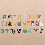 ブーブーハウス Yahoo!店で買える「アニマルアルファベットのワッペン A〜Zを選んでください! アニマル文字」の画像です。価格は100円になります。